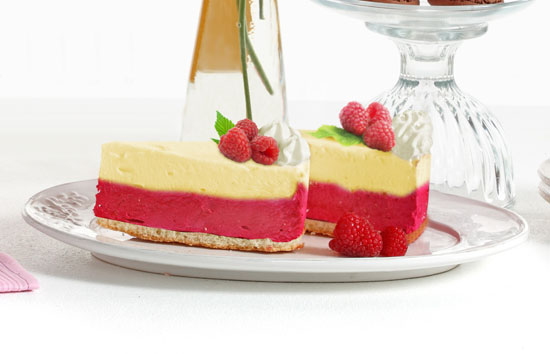 Lemon Raspberry Cheesecake | CANDIQUIK