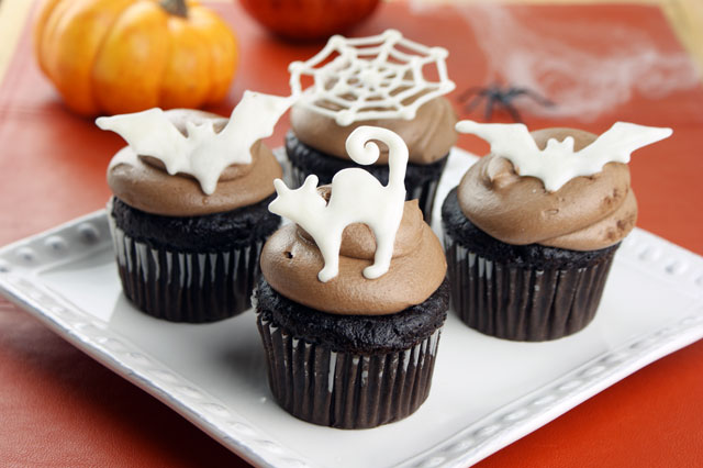Halloween cupcake toppers candiquik Halloween cupcakes